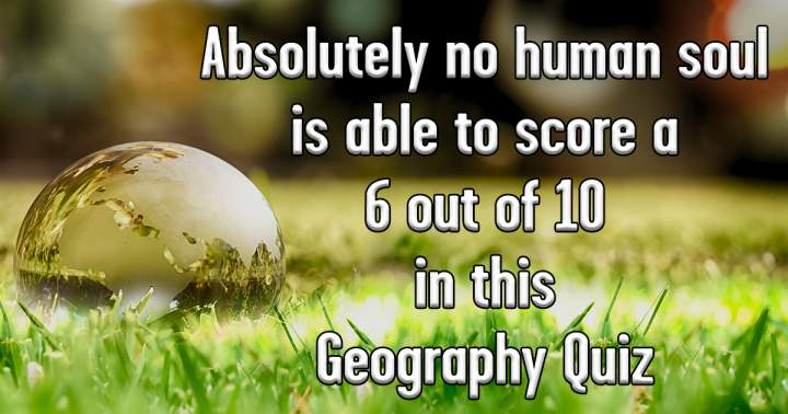 Challenging Geography Quiz