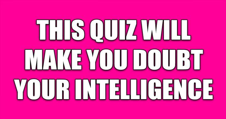 Challenging Knowledge Quiz
