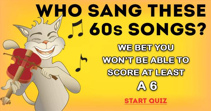 Who Sang These 60s Songs?